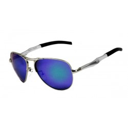 Recon Aviator - Silver / Green Blue Polarized Lens