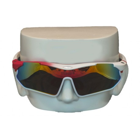 Vibes+ Goggles Shades - Matte White Fade Red / Polarized Red Lens