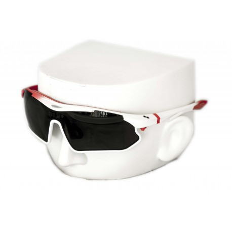 Vibes+ Goggles Shades - Matte White Fade Red / Polarized Black Lens