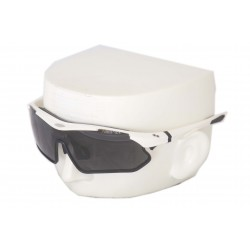 Vibes+ Goggles Shades - White Frame Black Border / Polarized Black Lens