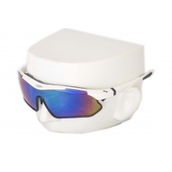 Vibes+ Goggles Shades - White Frame Black Border / Polarized Purple Lens