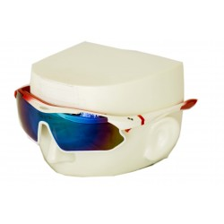Vibes+ Goggles Shades - Matte White Fade Red / Polarized Purple Lens