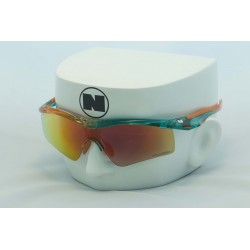 Blitz XI Green Fade Orange Sports Series - Ruby Fire Polarized Lens